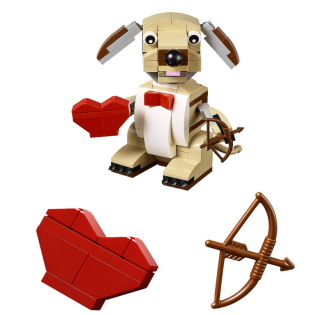 Lego Valentines Cupid Dog